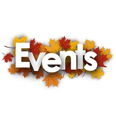 Events background with maple leaves vector