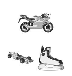 extreme sport monochrome icons in set collection vector image