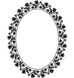 Floral frame vector