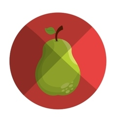 Fresh pear farm product vector