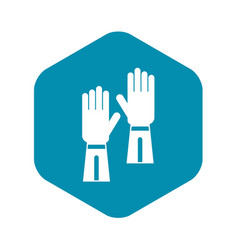 Gloves icon simple style vector