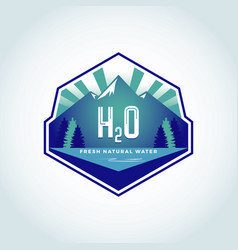 H2o natural water logo template vector