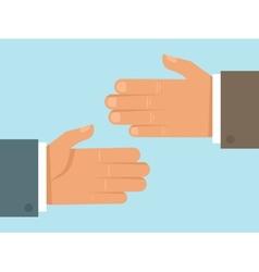 Handshake concept in flat style vector