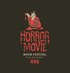 Horror movie festival banner for scary cinema vector