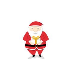 isolated santa claus send gift box to you vector image