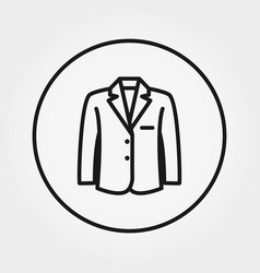 jacket universal icon editable thin line vector image