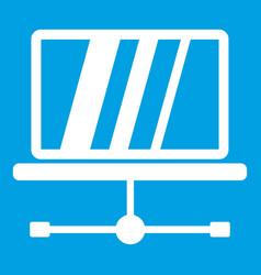 Laptop icon white vector