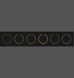 laurel wreath icon set vector image