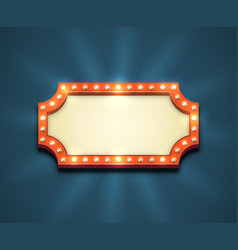 light bulbs frame vector image