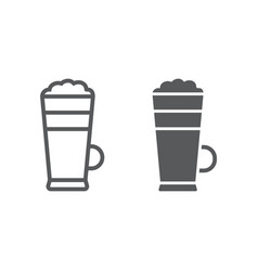 macchiato line and glyph icon coffee and cafe vector image