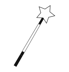 Magic wand black simple icon vector image