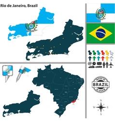 Map of Rio de Janeiro vector image