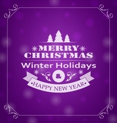 Merry Christmas Wishes Typography Design vector