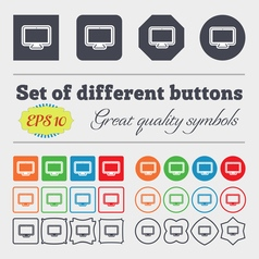 monitor icon sign Big set of colorful diverse vector image