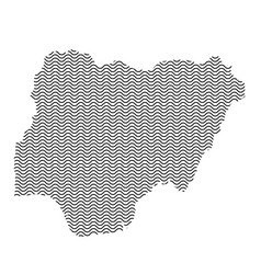 nigeria map country abstract silhouette of wavy vector image