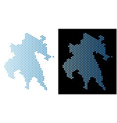 Peloponnese peninsula map hex-tile scheme vector