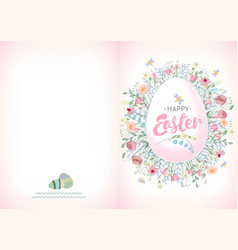 ready for print happy easter greeting card whit vector image