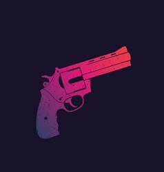 Revolver compact handgun gun vector