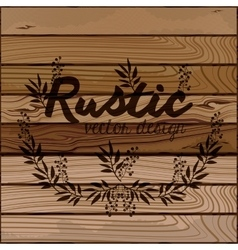 Rustic wooden background vector