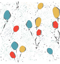 seamless funny pattern with colorful balloons on vector image