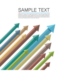 set of colored arrows up vector image