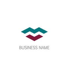 shape letter m business logo vector image