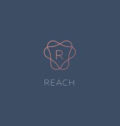 simple elegant letter r icon logotype vector image