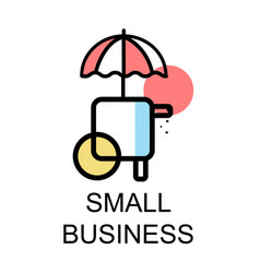 Small store icon for small business on white vector