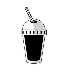 smoothie drink icon vector image