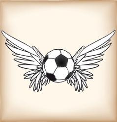 soccerangel vector image