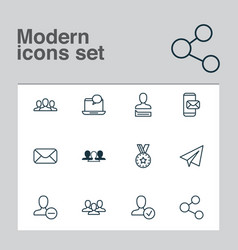 Social icons set collection of society phone vector