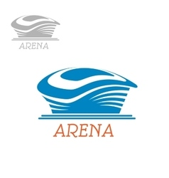 Sport stadium or arena abstract blue icon vector