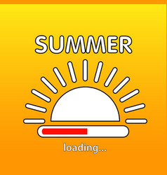 summer is loading vector image