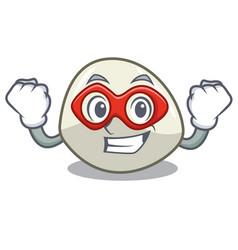 Super hero character cartoon fresh mozzarella vector
