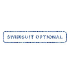 Swimsuit optional textile stamp vector