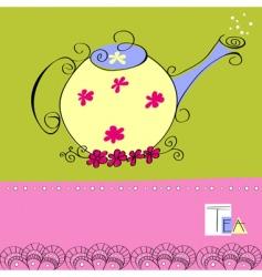 teapot card vector image