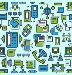 Telecommunication seamless pattern background vector