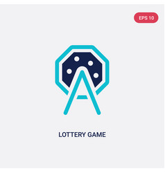 two color lottery game icon from entertainment vector image