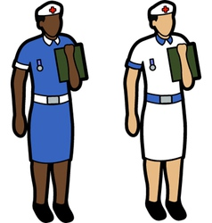 Two nurses vector