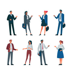 variety business people characters vector image