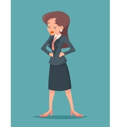 Vintage businesswoman character icon on stylish vector