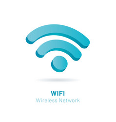 wi fi wireless network 3d symbol vector image