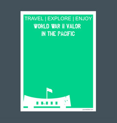 world war li valor in the pacific alaska vector image