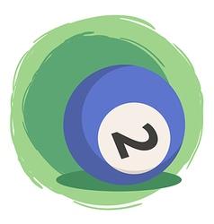 Billiard Ball Number 2 Blue vector image vector image