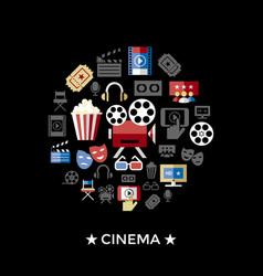 digital red black cinema vector image vector image