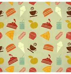 retro menu seamless color vector image
