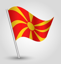 Flag macedonia vector