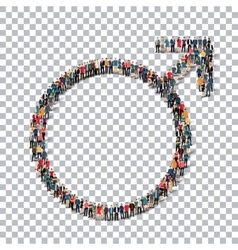 male sign isometrick people 3d vector image