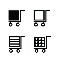 shopping cart icons cube style vector image vector image