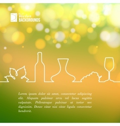 Style line design of vine vector image vector image